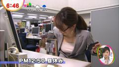 加藤綾子アナがOLスーツがはだけておっぱいを放り出す画像