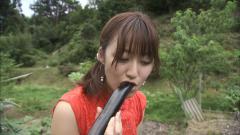 枡田絵理奈が茄子にむしゃぶりつく画像