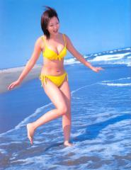 木南晴夏は黄色いビキニでもやはりモリマンな画像