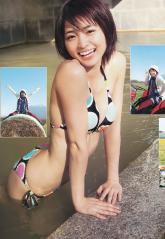 岡本玲のプリケツとおっぱいを堪能する濡れた水着画像