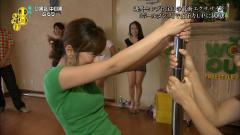 生野陽子がポールダンスでおっぱいクッキリ画像