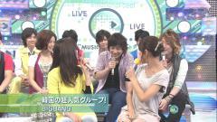 竹内由恵アナウンサーがミュージックステーションで股間を押さえるエロ画像
