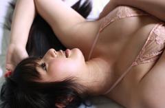 村上友梨の透けブラ胸の谷間乳輪ギリギリ画像
