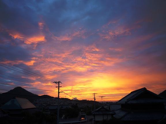5時40分頃 我が家から見た東の空