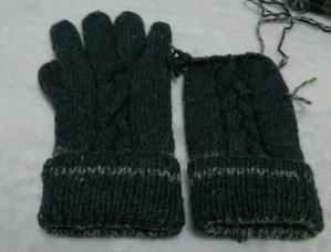 手編みの手袋くん