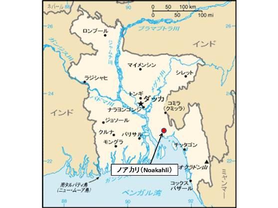 Bangladesh Noakhali Map