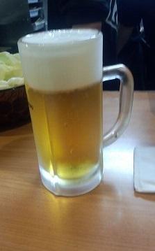 生ビール(430円、この時200円)ヨネヤ