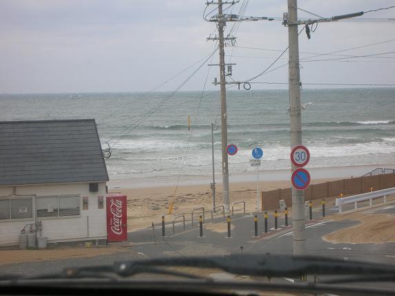 駐車場から海をみてたら