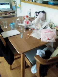 テーブル 途中