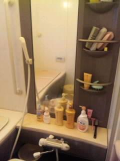 風呂鏡前○