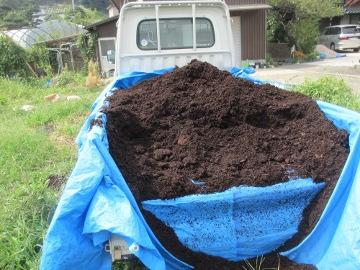 堆肥を撒いて