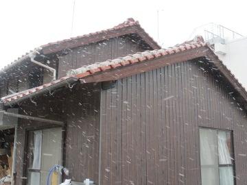 晴れから雪2