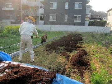 一日堆肥撒き17