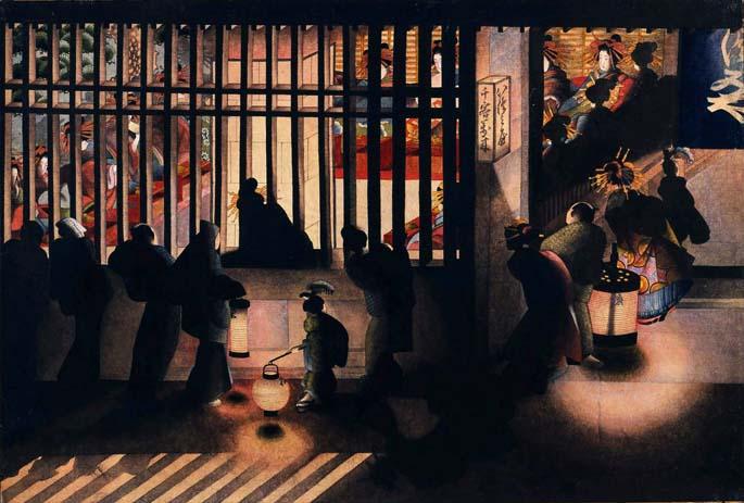 吉原夜景図