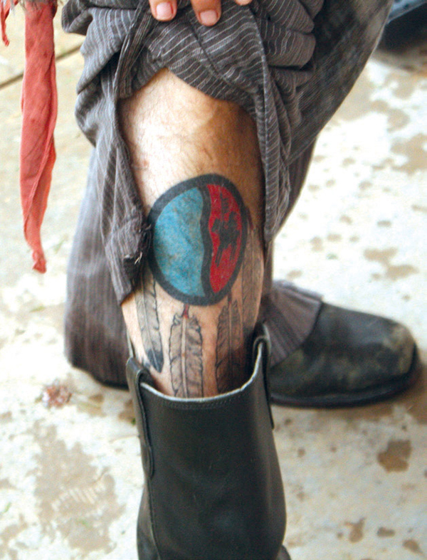 johnnydepp tattoo comanche sheild678