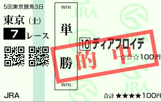 1110東京7R