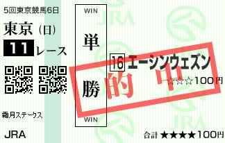 1118東京11R