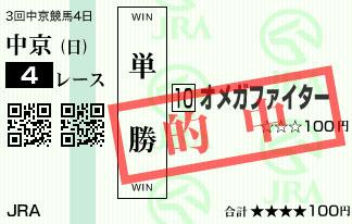 1210中京4Rオメガファイター