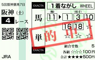 1222阪神4R2