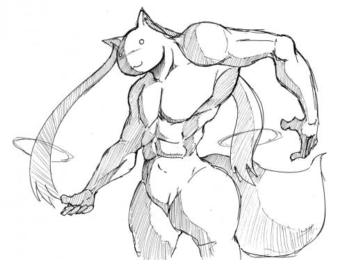 白い淫獣(8頭身