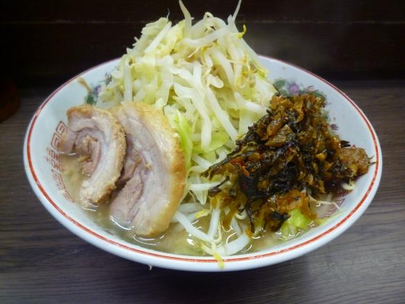 12年7月7日 横浜関内 小ラーメン 麺少な目 ヤサイニンニク七夕