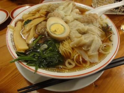 広州市場 西新宿店 広州雲呑麺(醤油)