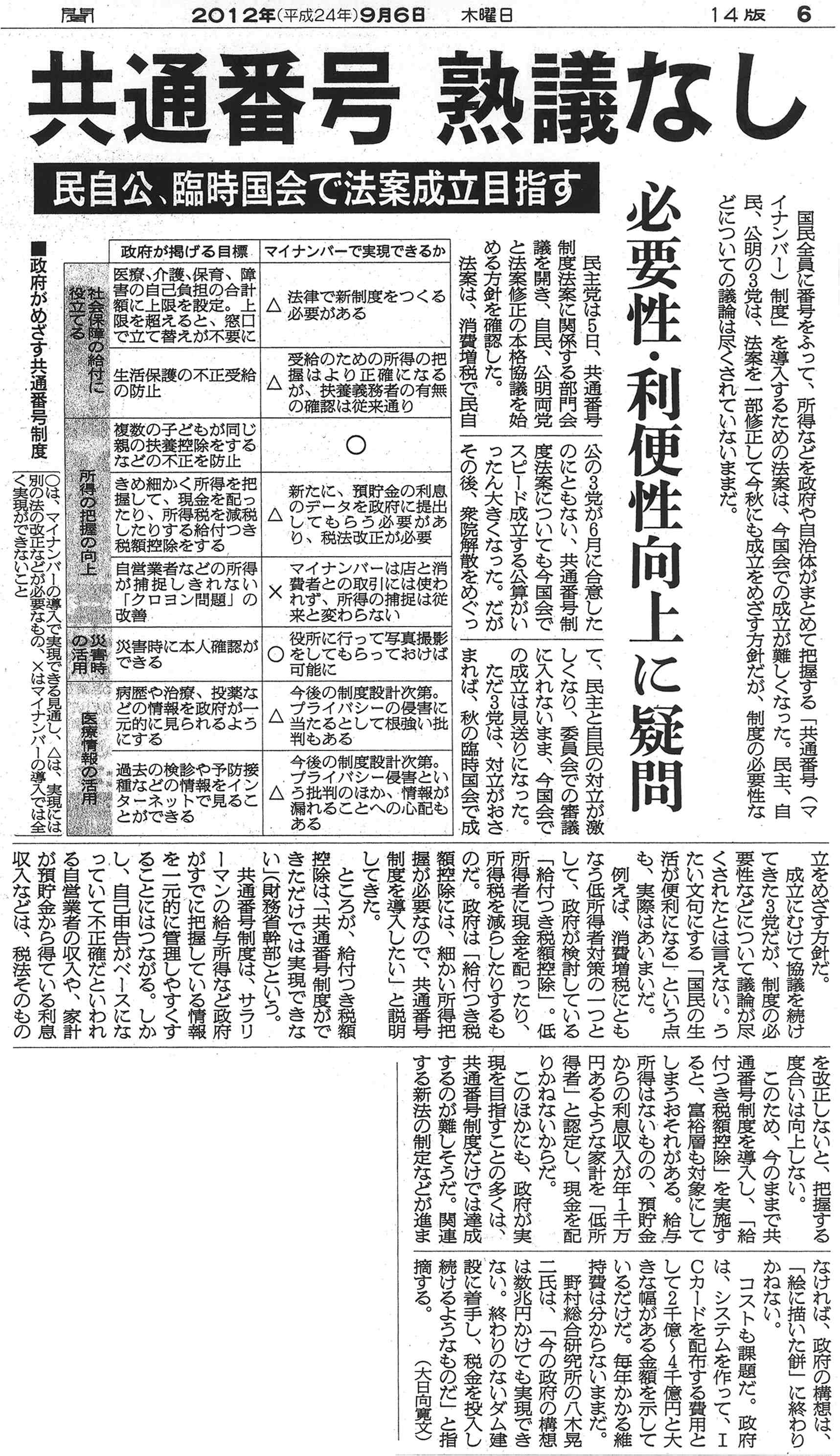 朝日新聞120906