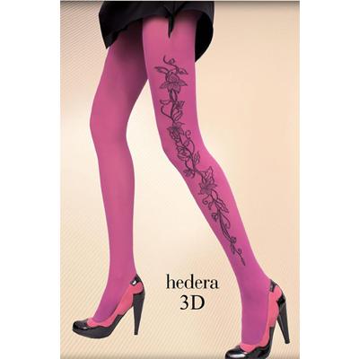 ピンク サイドフラワーパターン 3Dパンティストッキング M
