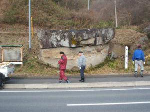 20121216重箱石しめ縄作り29