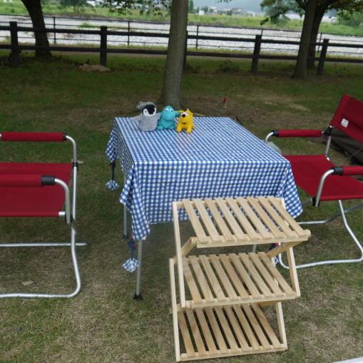 ウッドロール2ステージテーブル 04