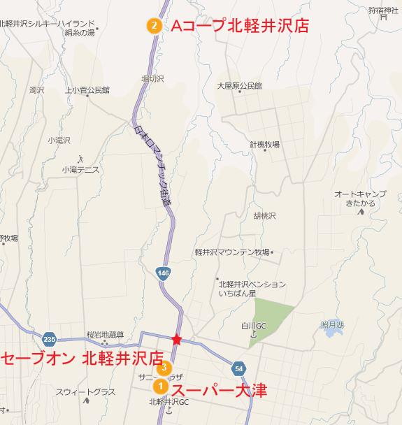 北軽井沢マップ01