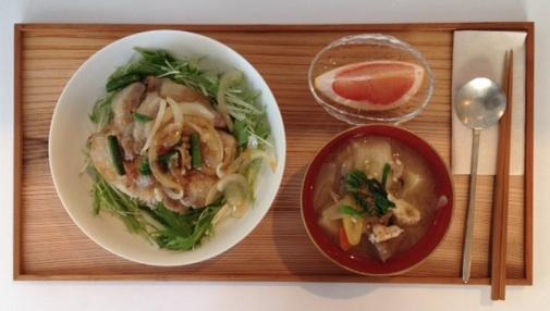 豚肉の生姜焼き-2014-1-23