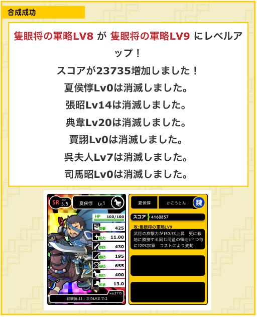 隻眼将の軍略LV9