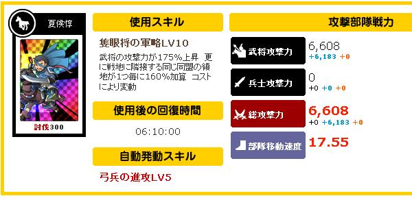 SR夏侯惇LV10回復時間