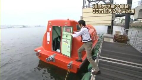 自由落下式救命艇の着水後の運動様式と 安全性について