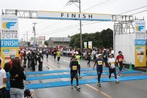 福岡マラソンゴール