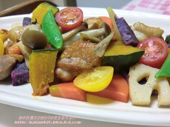彩り野菜と鶏のエチュベ♪