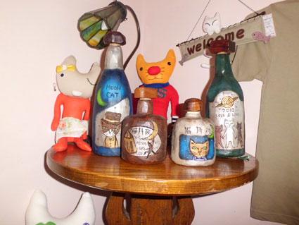 木彫りボトル