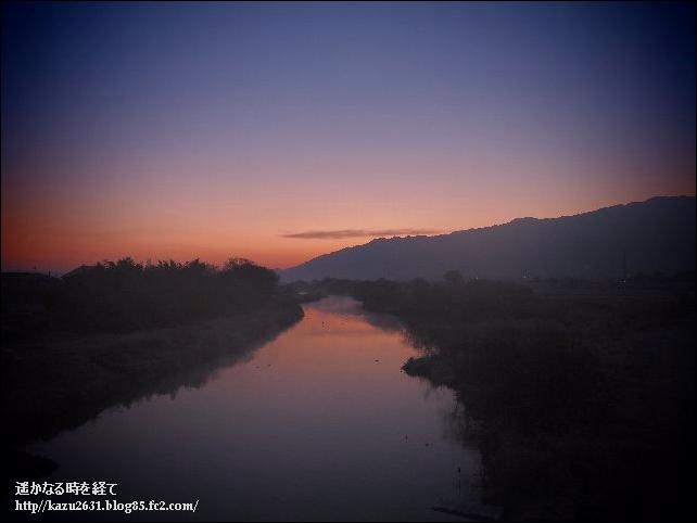早朝の巨瀬川 (1)