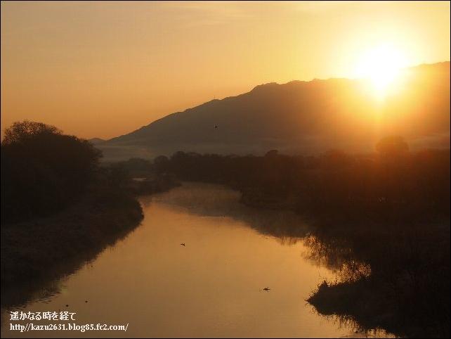 早朝の巨瀬川 (2)