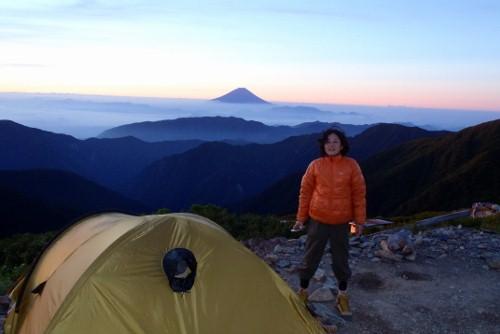 北岳山荘の朝