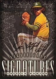 1998 Donruss Signature Significant Signatures Catfish Hunter