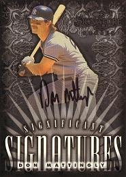 1998 Donruss Signature Significant Signatures Don Mattingly