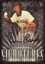 1998 Donruss Signature Significant Signatures Ernie Banks