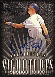 1998 Donruss Signature Significant Signatures George Brett