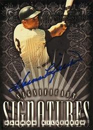 1998 Donruss Signature Significant Signatures Harmon Killebrew
