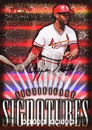 1998 Donruss Signature Significant Signatures Ozzie Smith