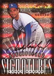 1998 Donruss Signature Significant Signatures Sandy Koufax