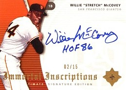 2005 Ultimate Signature Immortal Inscriptions Willie HOF85 MaCovey