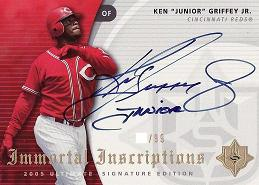2005 Ultimate Signature Immortal Inscriptions Ken Junior Griffey Jr.